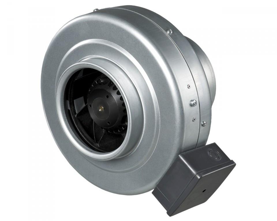 Buisventilator van staal 100mm Ø 270 m3/h BS