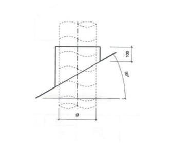 Dakdoorvoer plat dak 30° Ø 250mm type DD