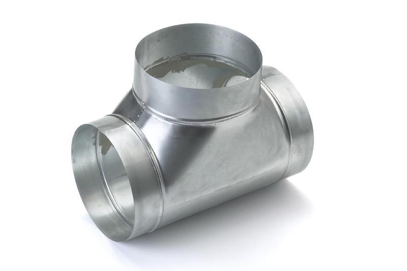 T-stuk voor spirobuis diameter Ø 125mm
