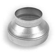 Spirobuis verloopstuk van Ø 125mm naar Ø 80mm