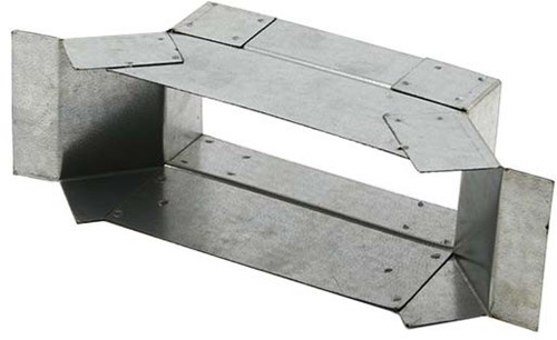 Zij- aansluitstuk instortkanaal 45º 220mm x 80mm (Rechthoekig)