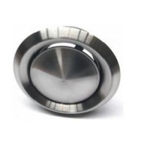 Afzuigventiel Ø 100mm 0-51m3  RVS met montage-ring