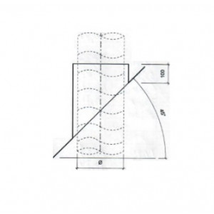 Dakdoorvoer plat dak 45° Ø 125mm type DD