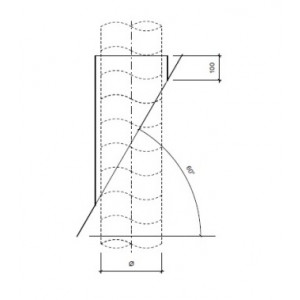 Dakdoorvoer plat dak 60° Ø 80mm type DD