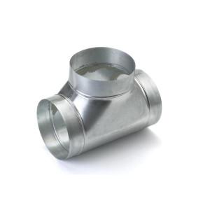 T-stuk voor spirobuis diameter Ø 80mm
